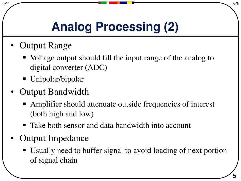 Analog Processing (2)