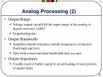 analog processing 2