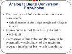 analog to digital conversion error noise
