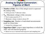 analog to digital conversion figures of merit