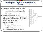 analog to digital conversion flash