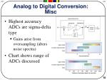 analog to digital conversion misc