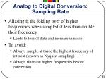 analog to digital conversion sampling rate