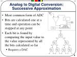 analog to digital conversion successive approximation