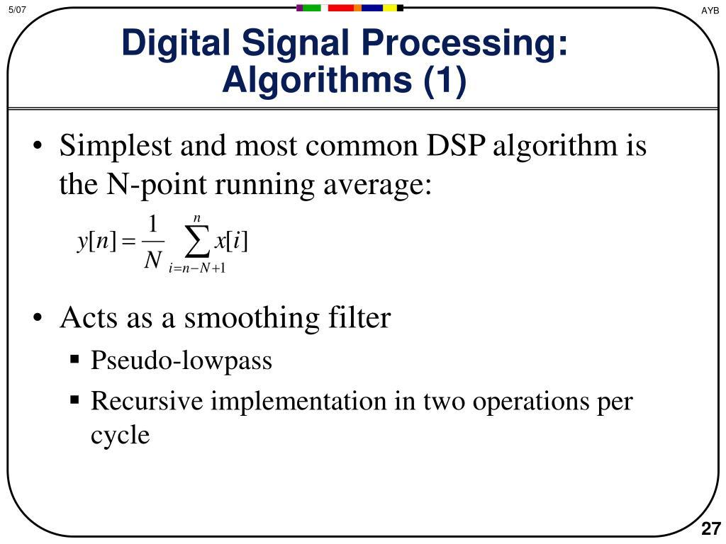 Digital Signal Processing: