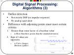 digital signal processing algorithms 3