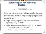 digital signal processing basics