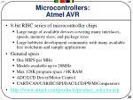 microcontrollers atmel avr