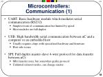 microcontrollers communication 1