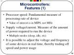 microcontrollers features 1