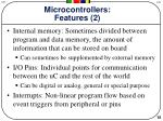 microcontrollers features 2