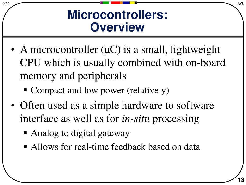 Microcontrollers: