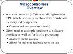 microcontrollers overview
