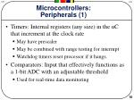microcontrollers peripherals 1