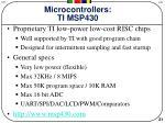 microcontrollers ti msp430