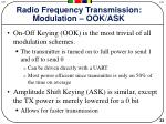 radio frequency transmission modulation ook ask