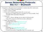 sensor networking protocols 802 15 1 bluetooth