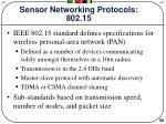 sensor networking protocols 802 15