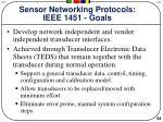sensor networking protocols ieee 1451 goals