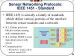 sensor networking protocols ieee 1451 standard