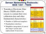 sensor networking protocols ieee 1451 teds