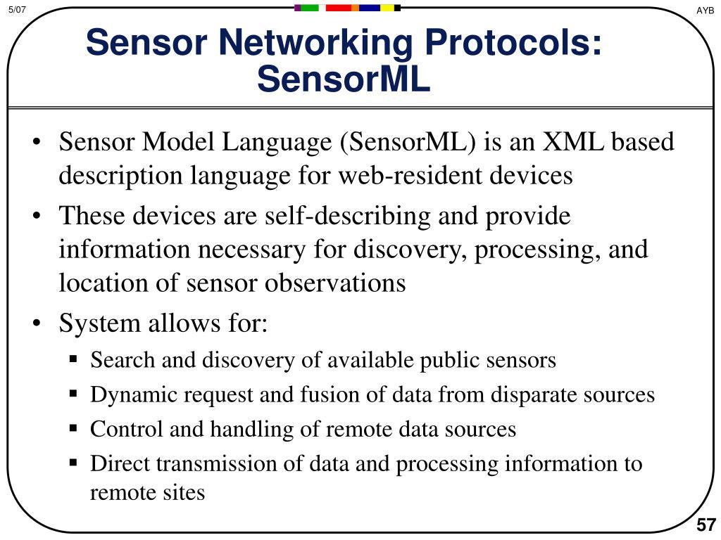 Sensor Networking Protocols: