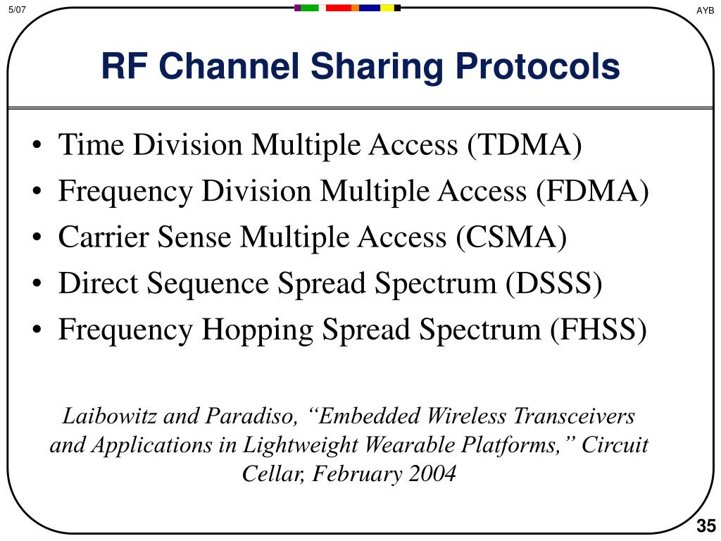 RF Channel Sharing Protocols