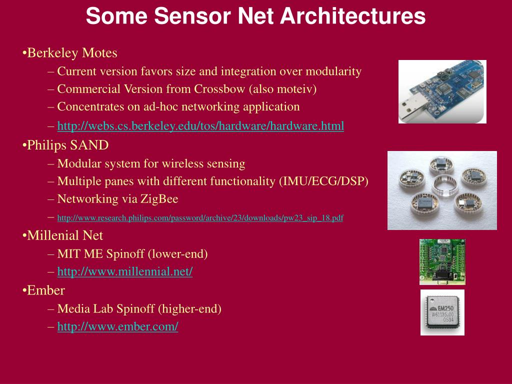 Some Sensor Net Architectures