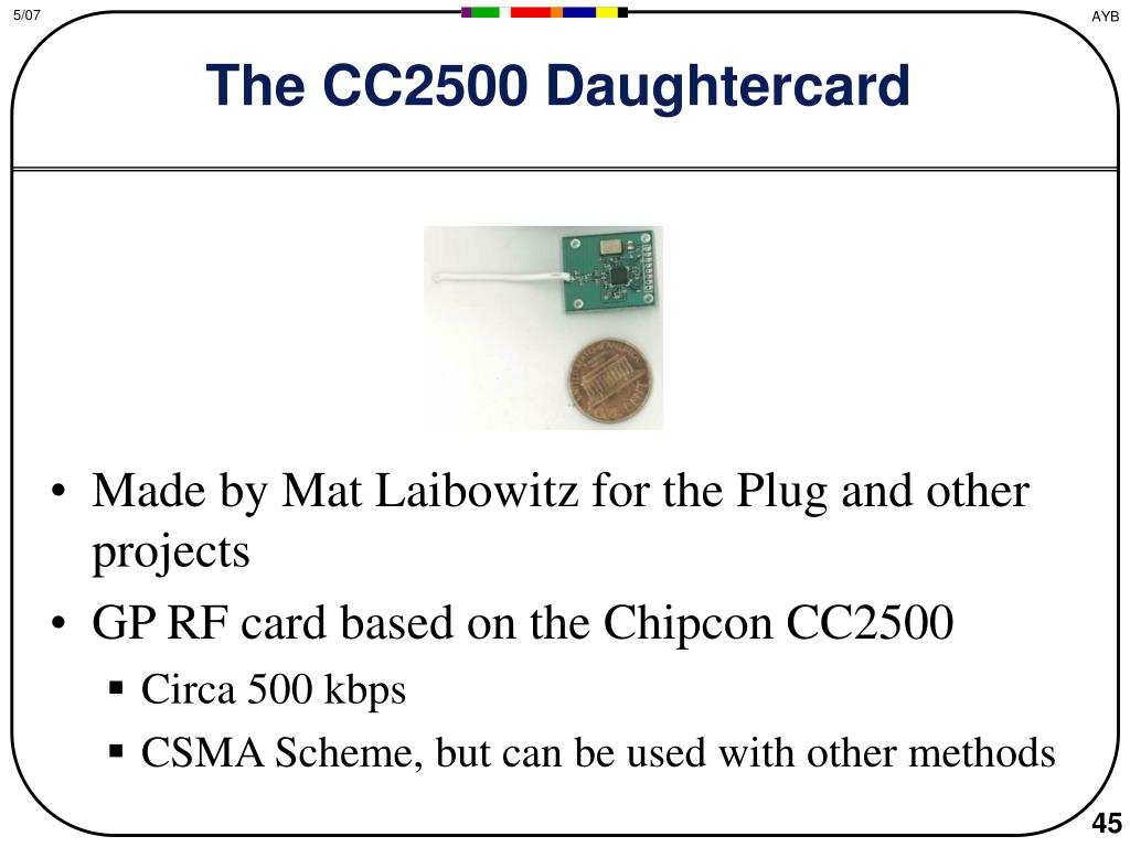 The CC2500 Daughtercard