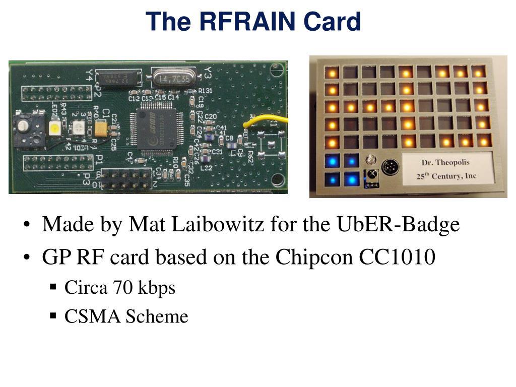 The RFRAIN Card