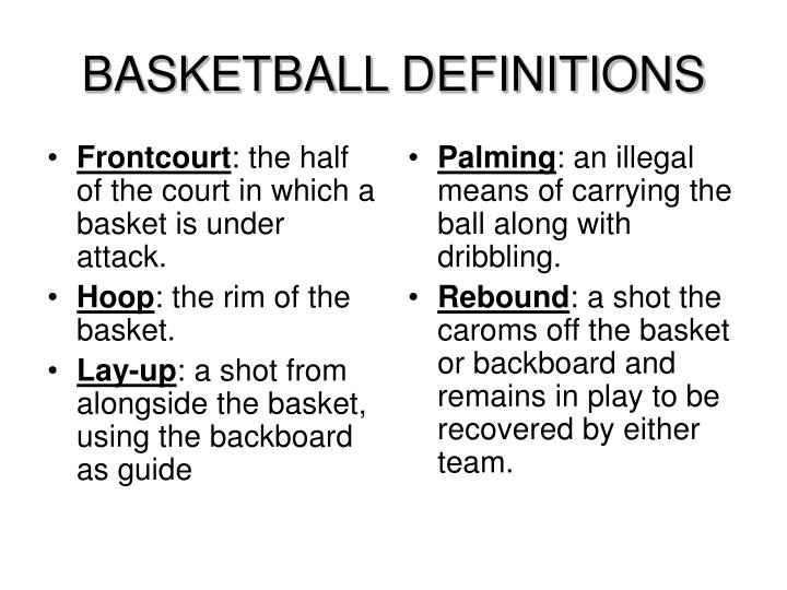 Basketball definitions2