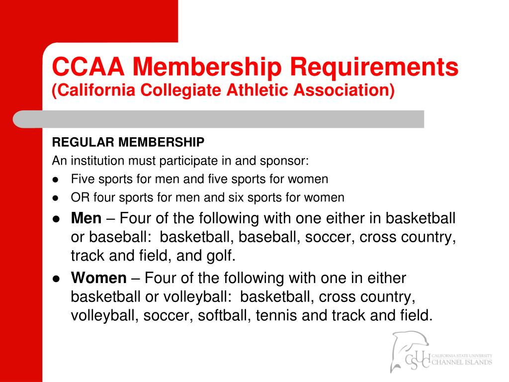 CCAA Membership Requirements