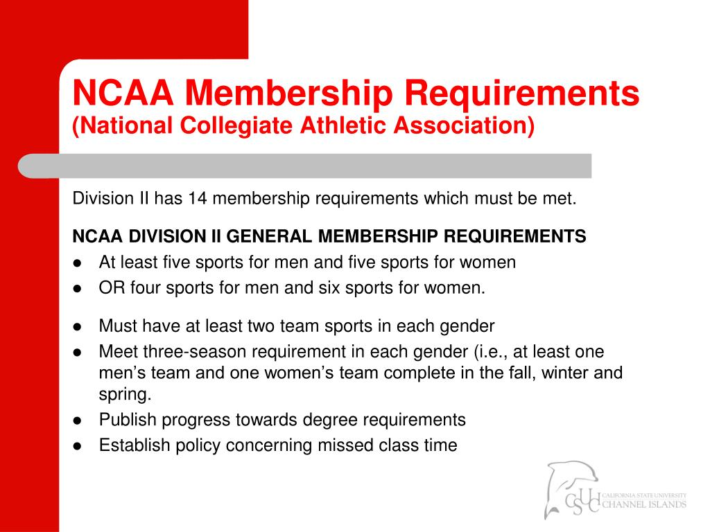 NCAA Membership Requirements