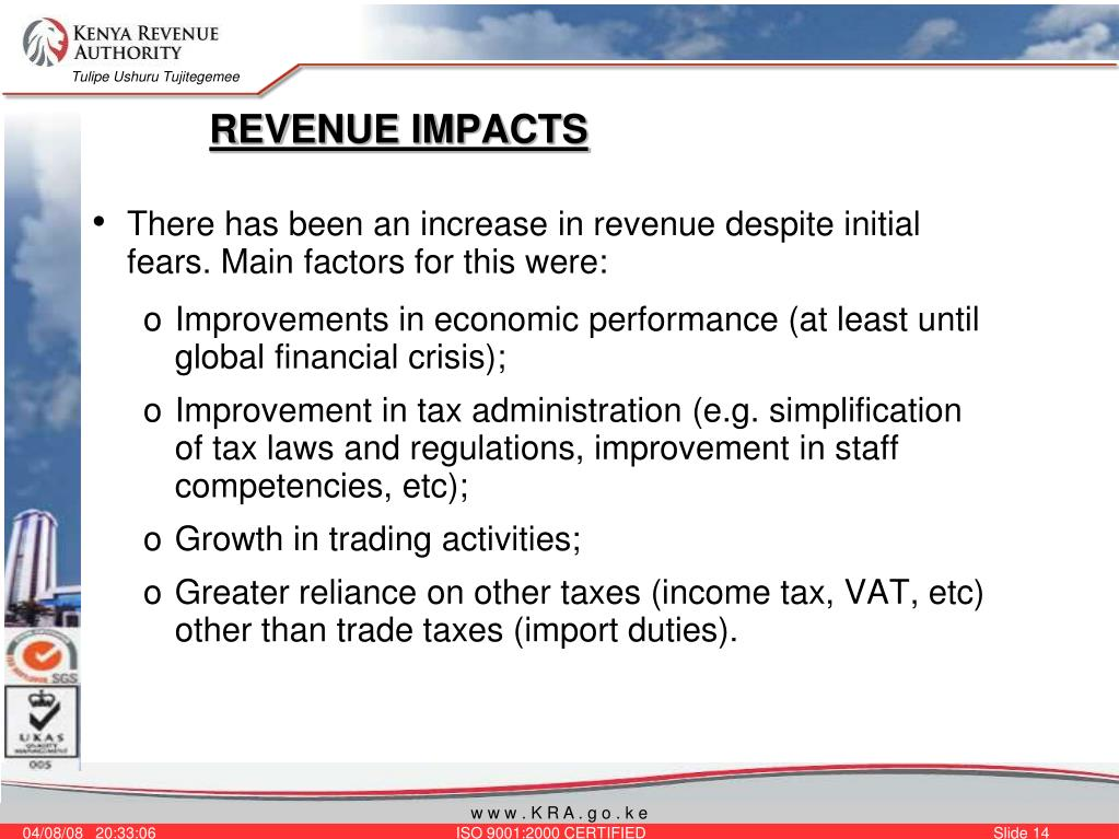 REVENUE IMPACTS