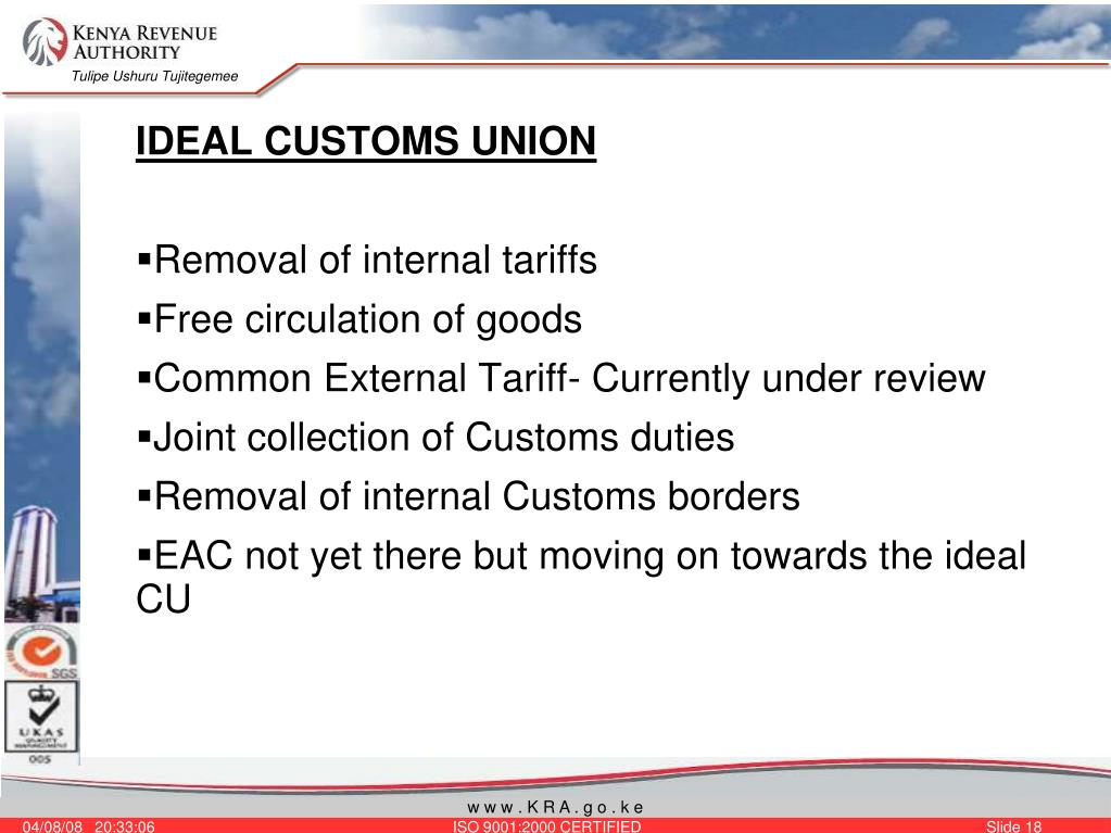 IDEAL CUSTOMS UNION