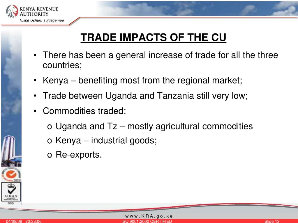 TRADE IMPACTS OF THE CU