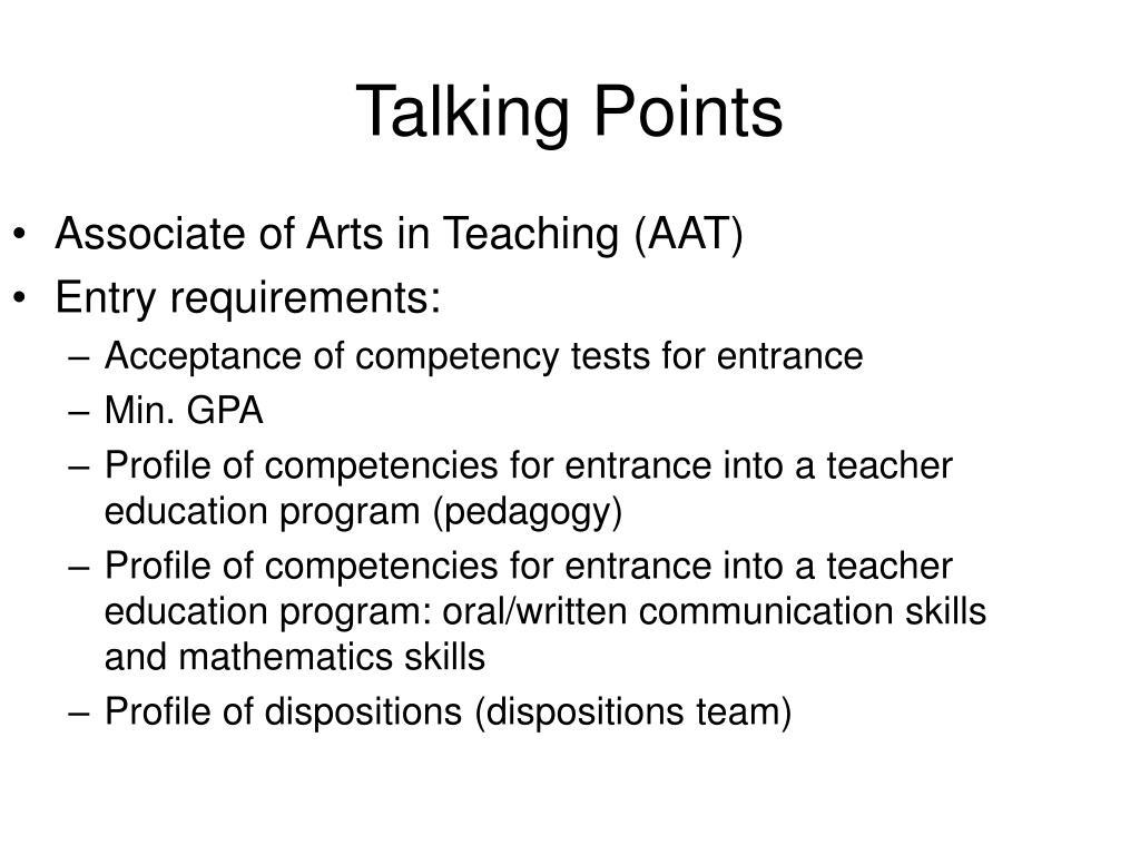 Associate of Arts in Teaching (AAT)