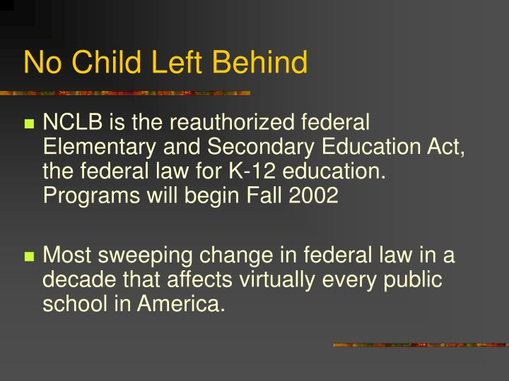 No child left behind2