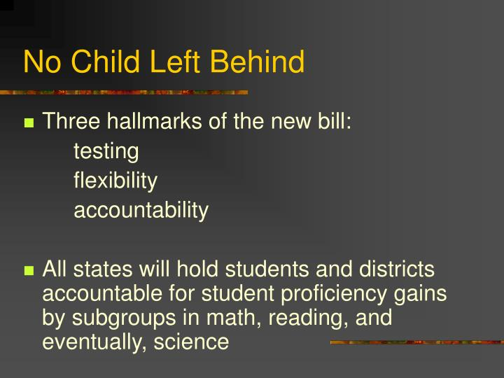 No child left behind3