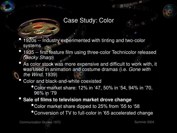 Case Study: Color