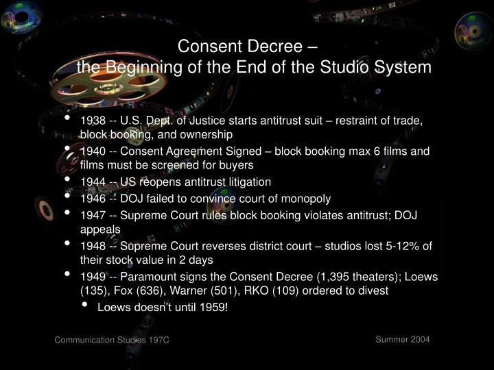 Consent Decree –