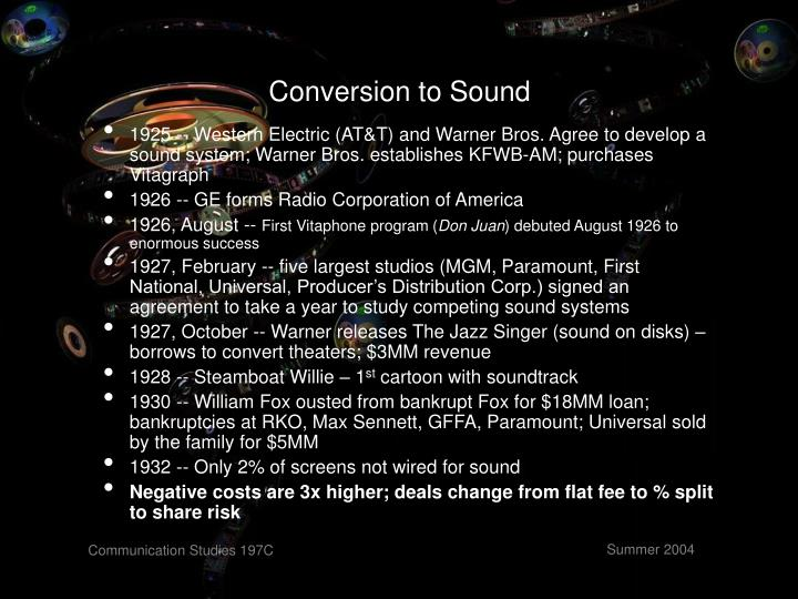 Conversion to Sound