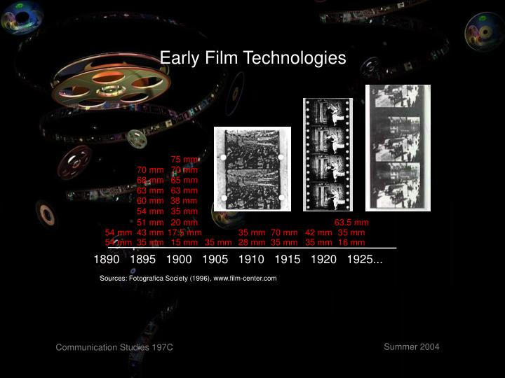 Early Film Technologies