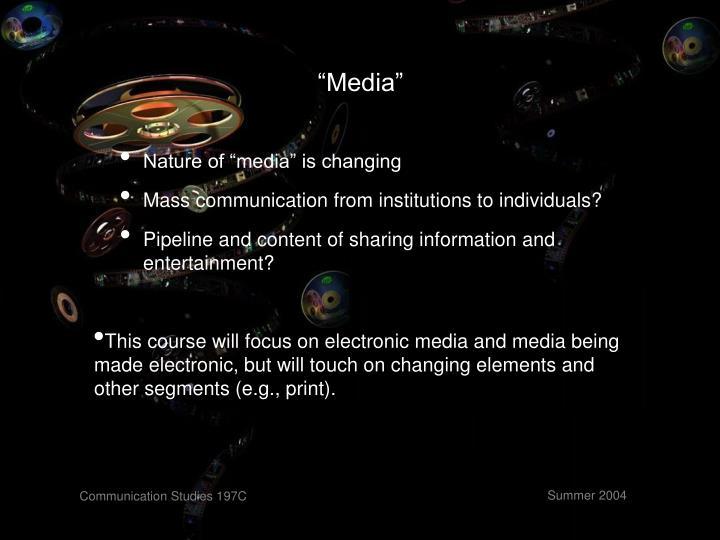 """""""Media"""""""