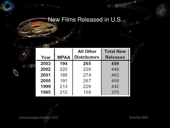 New Films Released in U.S.