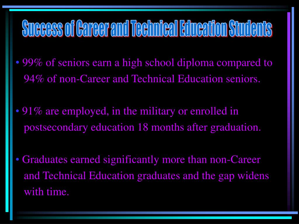 Success of Career and Technical Education Students