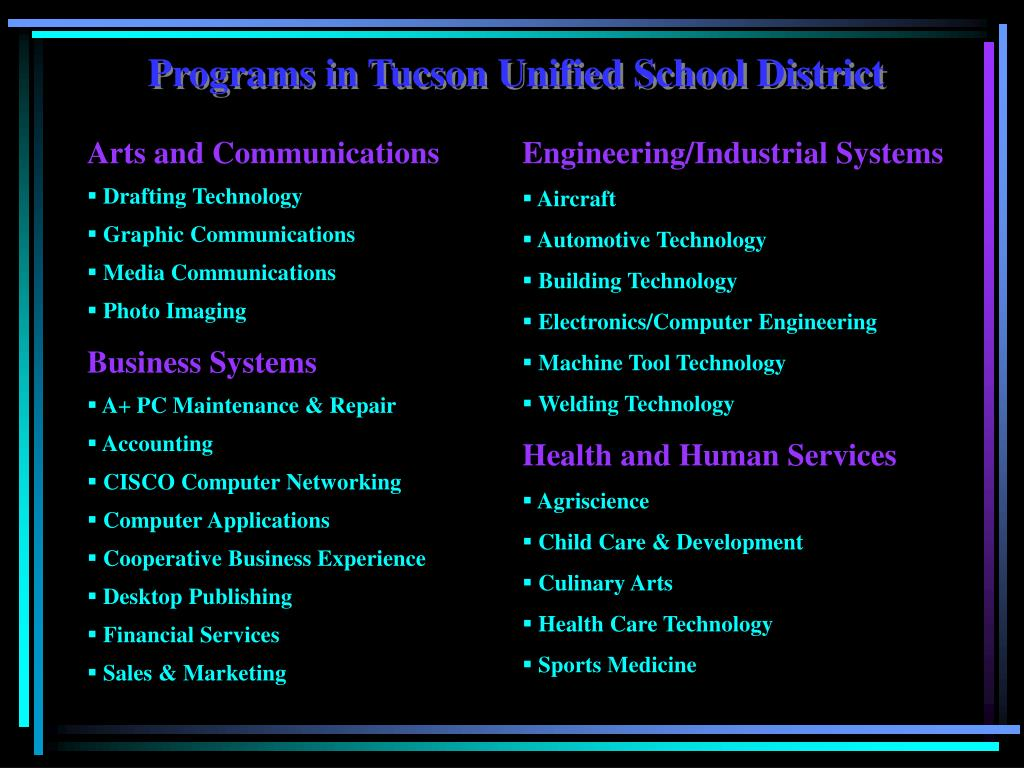 Programs in Tucson Unified School District