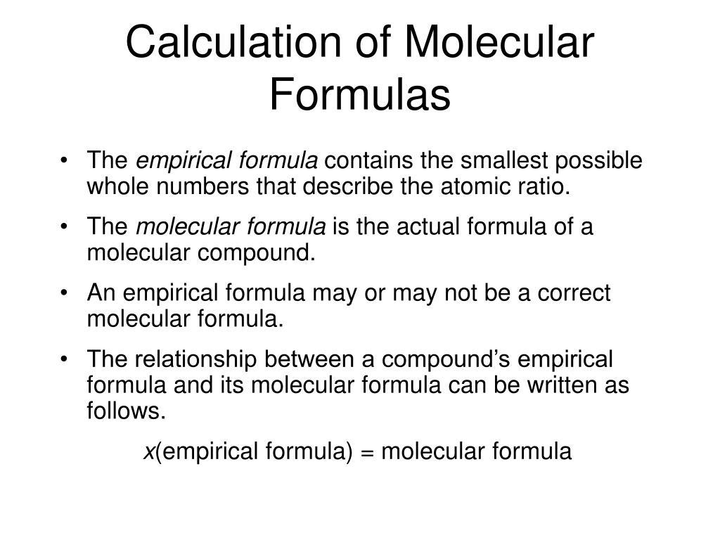 Empirical and molecular formula worksheet answers 1 5