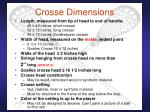 crosse dimensions