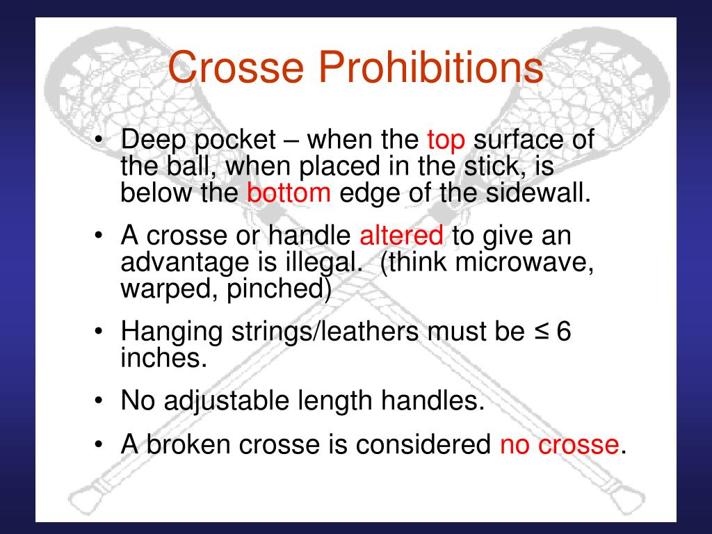 Crosse Prohibitions